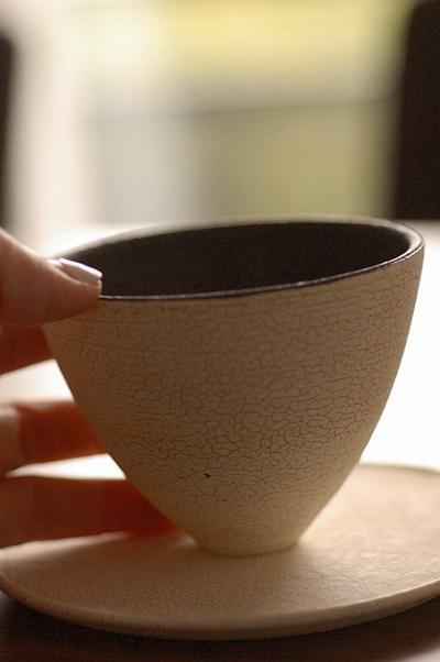 皹化粧フリーカップ カフェオレ